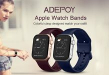Adepoy Soft Silicone Sports Apple Watch Band