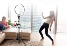 Erligpowht 10 Selfie Ring Light with Tripod Stand & Cell Phone Holder