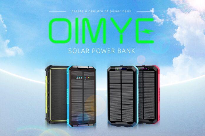 OIMYE 36000mAh Qi Wireless Solar