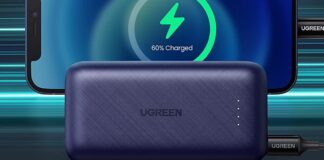 UGREEN Portable Charger with Lightning Cable